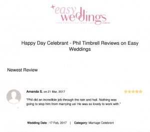 easy weddings testimonial